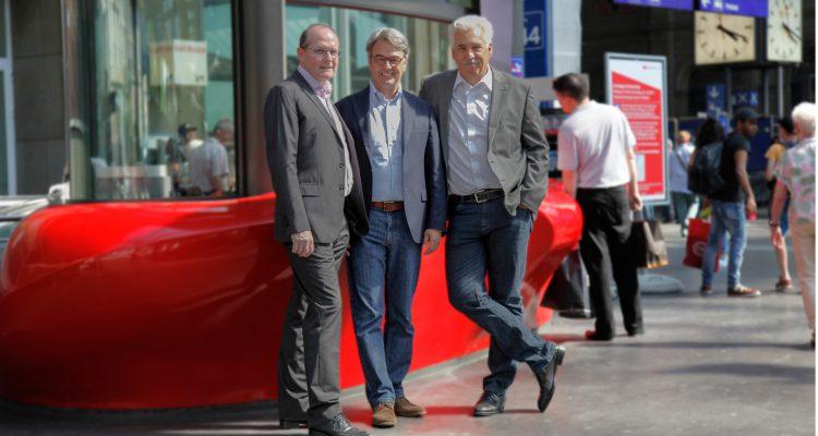 Dieter Fischer, Giorgio Pardini und Peter Weigelt