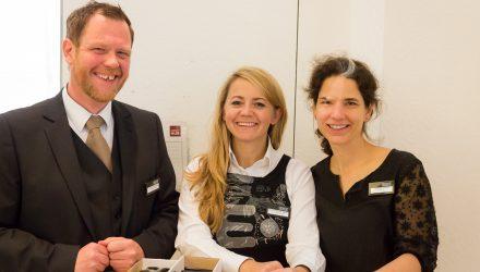 Andreas Fleschurz (Wir Kunde), Maria Hoffrichter-Zanetti (CCC) und Catherine Crowden (BSI)