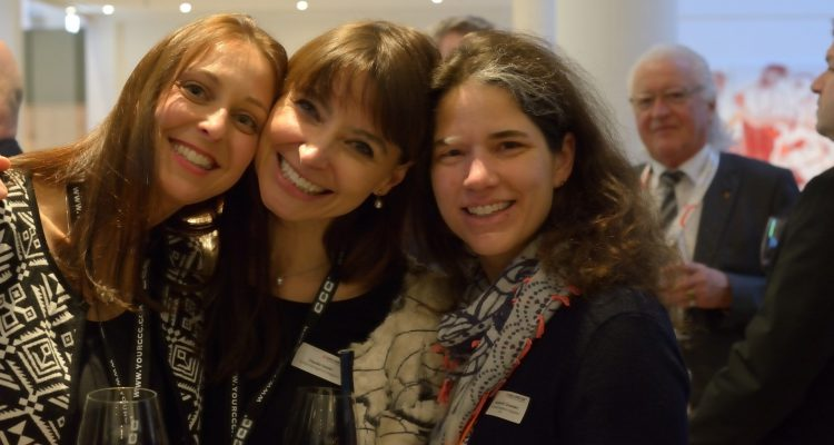 Anke Schönfeld (CCC), Claudia Gabler (Contact Management Magazine), Catherine Crowden (BSI)